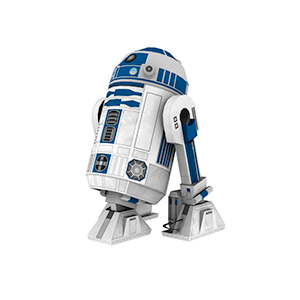 R2D2 Free Papercraft from Disney