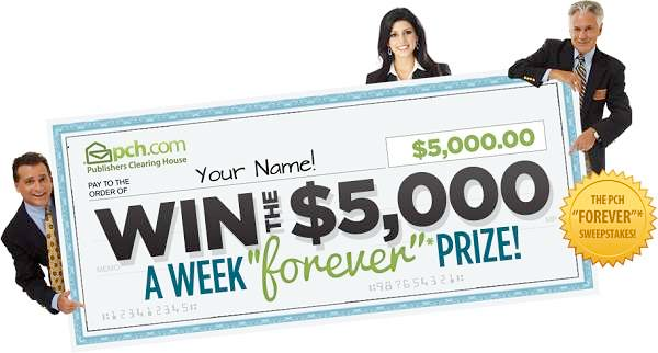 Sweepstakes: PCH – $5k/week FOREVER! – ShopGala